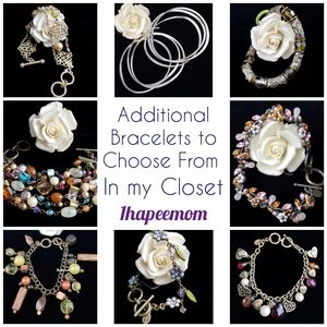 Cookie Lee Jewelry - Lavender Chrystal Necklace Floral